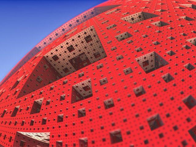 Губка Менгера 3D абстракция фрактал абстрактный