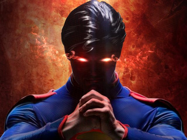 Супермен с лазерными глазами