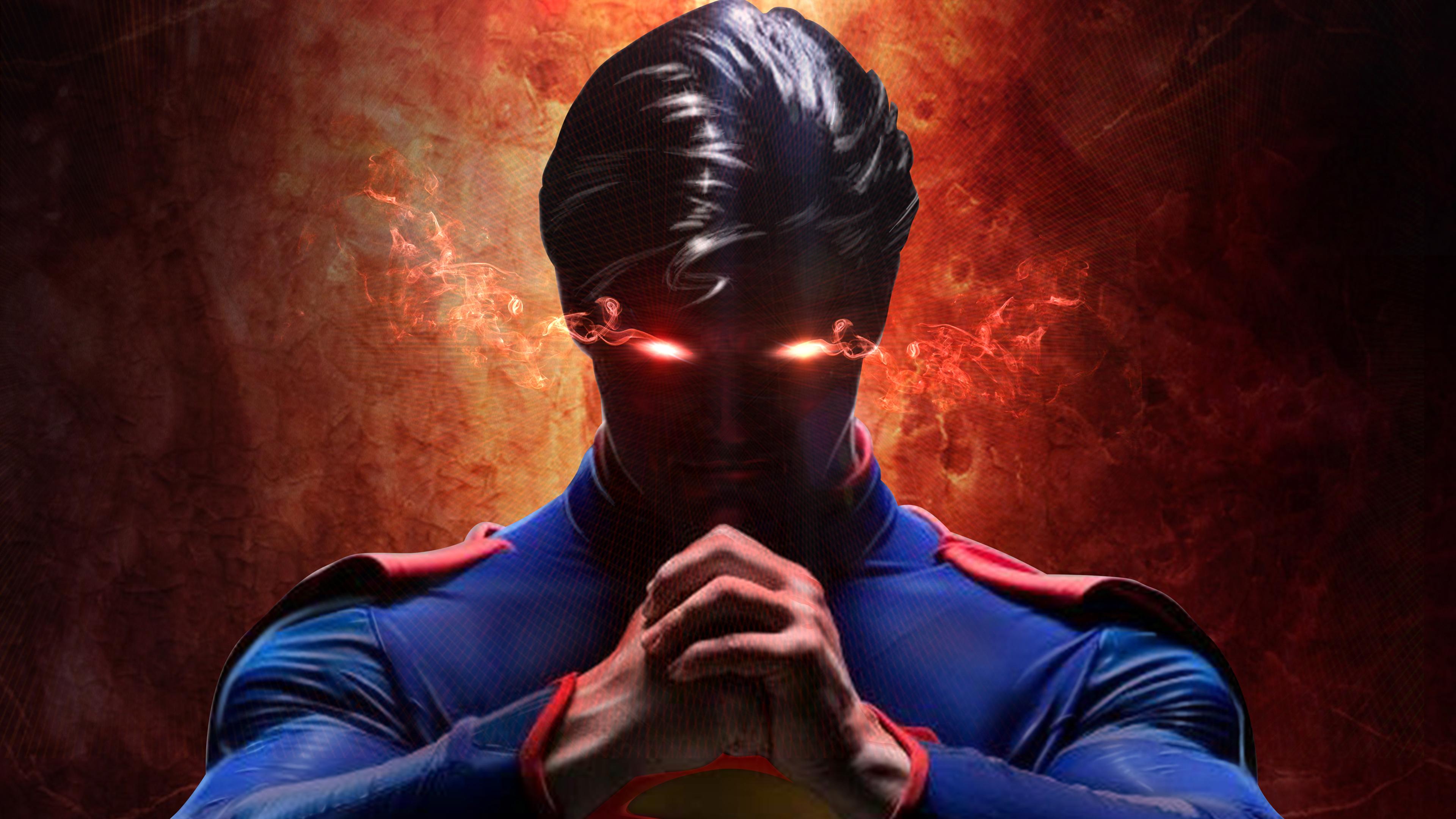 Супермен с лазерными глазами обои скачать