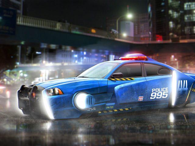 Бегущий по лезвию блесны уворачиваться от полицейских автомобилей