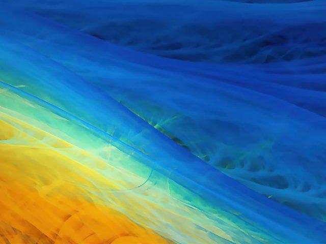 Желтый и синий цвет абстрактная живопись абстракция