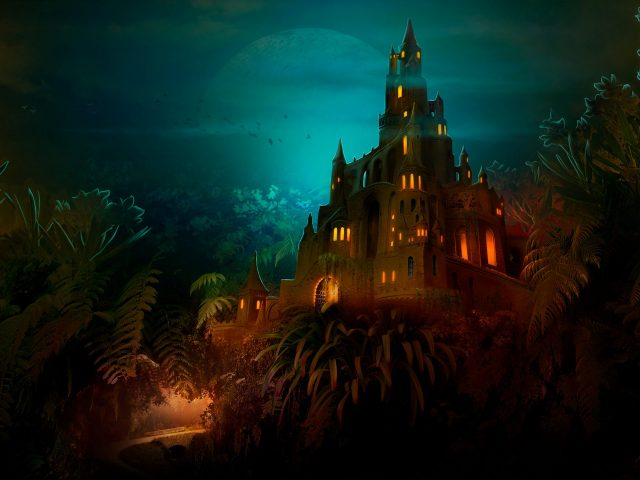 Замок лилипут Темная ночь