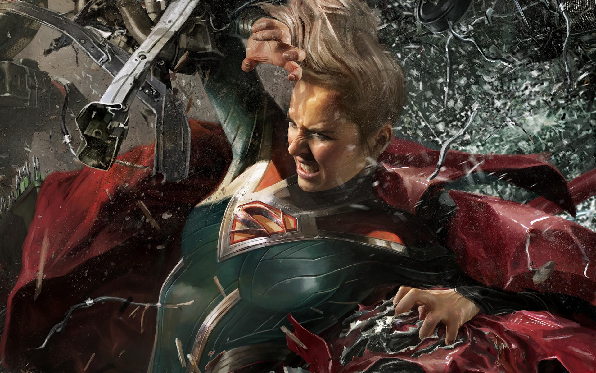 Супергерл несправедливость 2. обои скачать