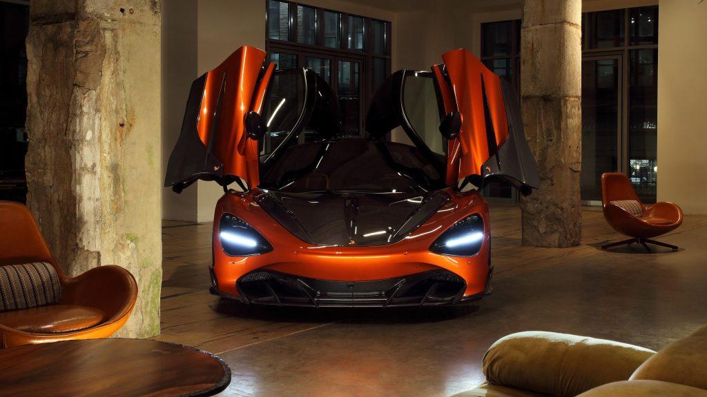 Топовый автомобиль mclaren 720s fury 2021 3 автомобиля обои скачать