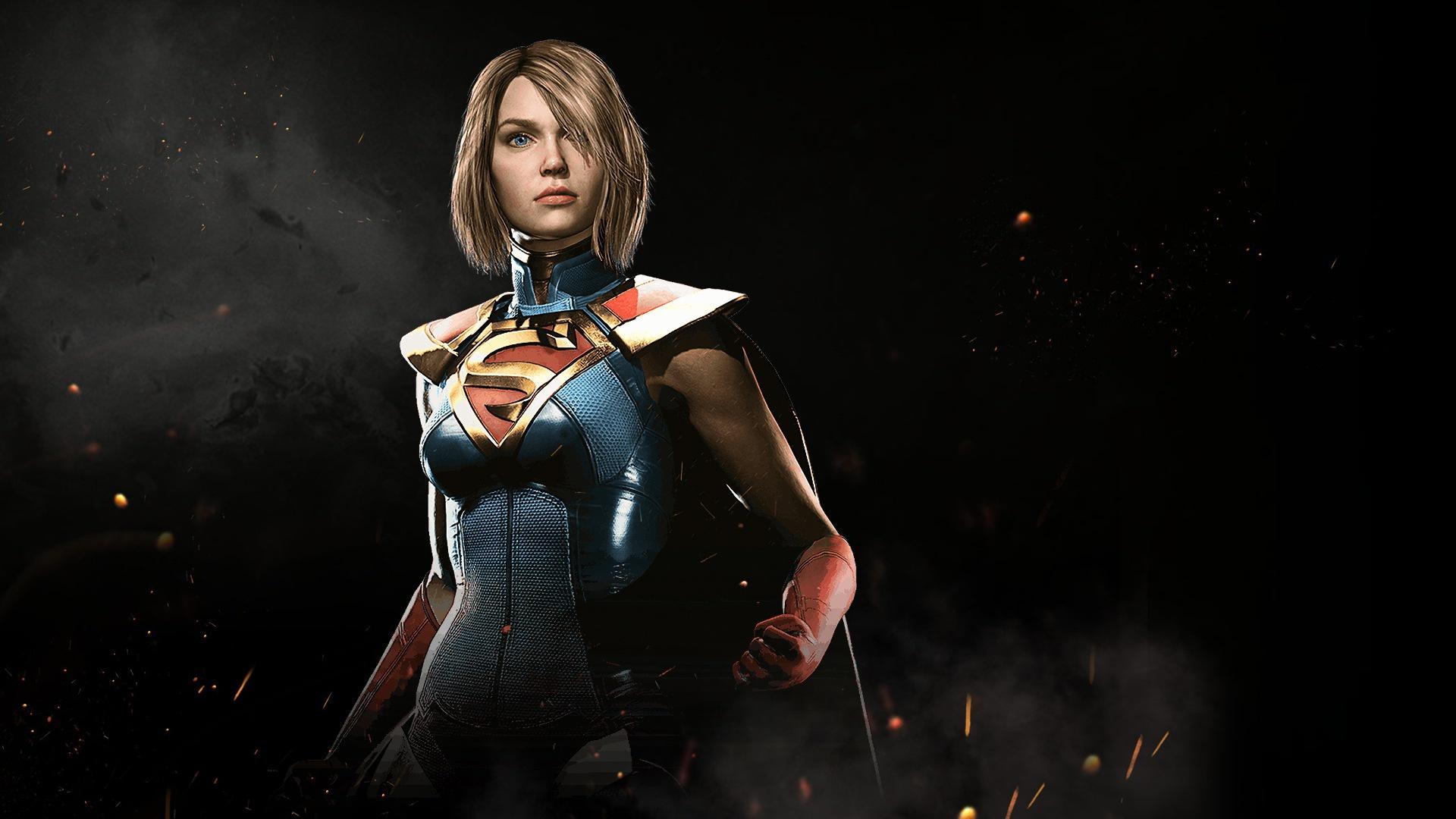 Supergirl in injustice 2. обои скачать