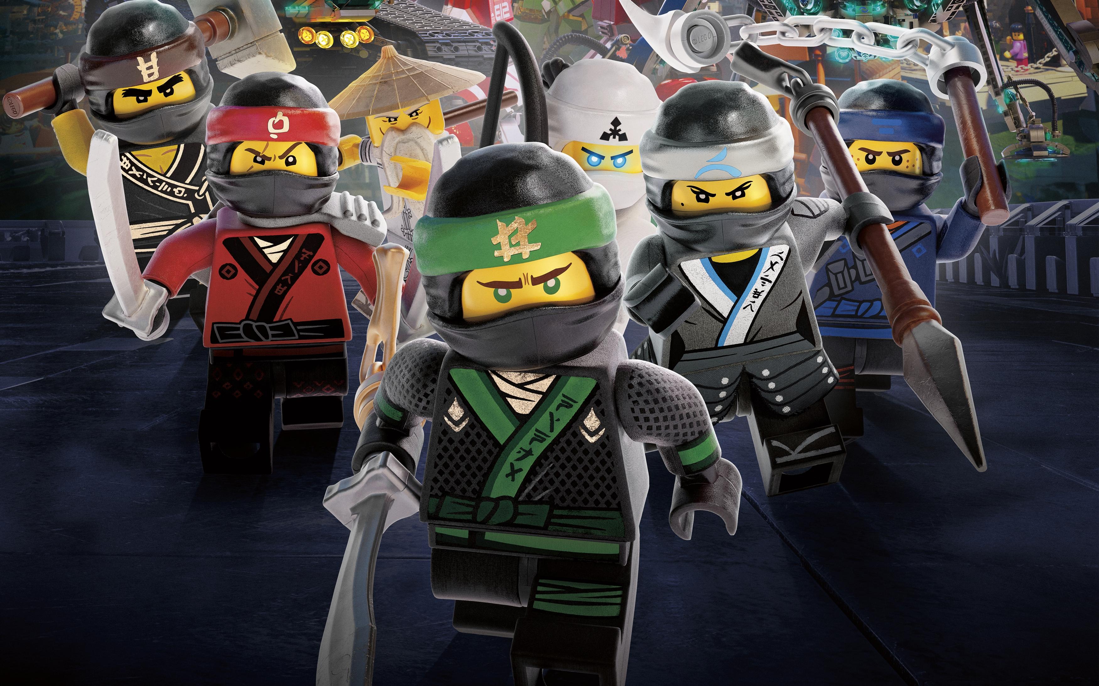 Воины ниндзя Лего ниндзяго обои скачать