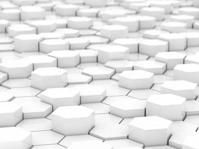 Белый шестиугольник абстрактный
