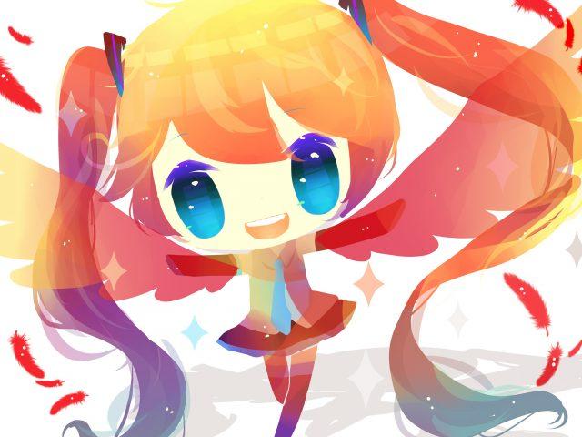 Девушка аниме vocaloid.