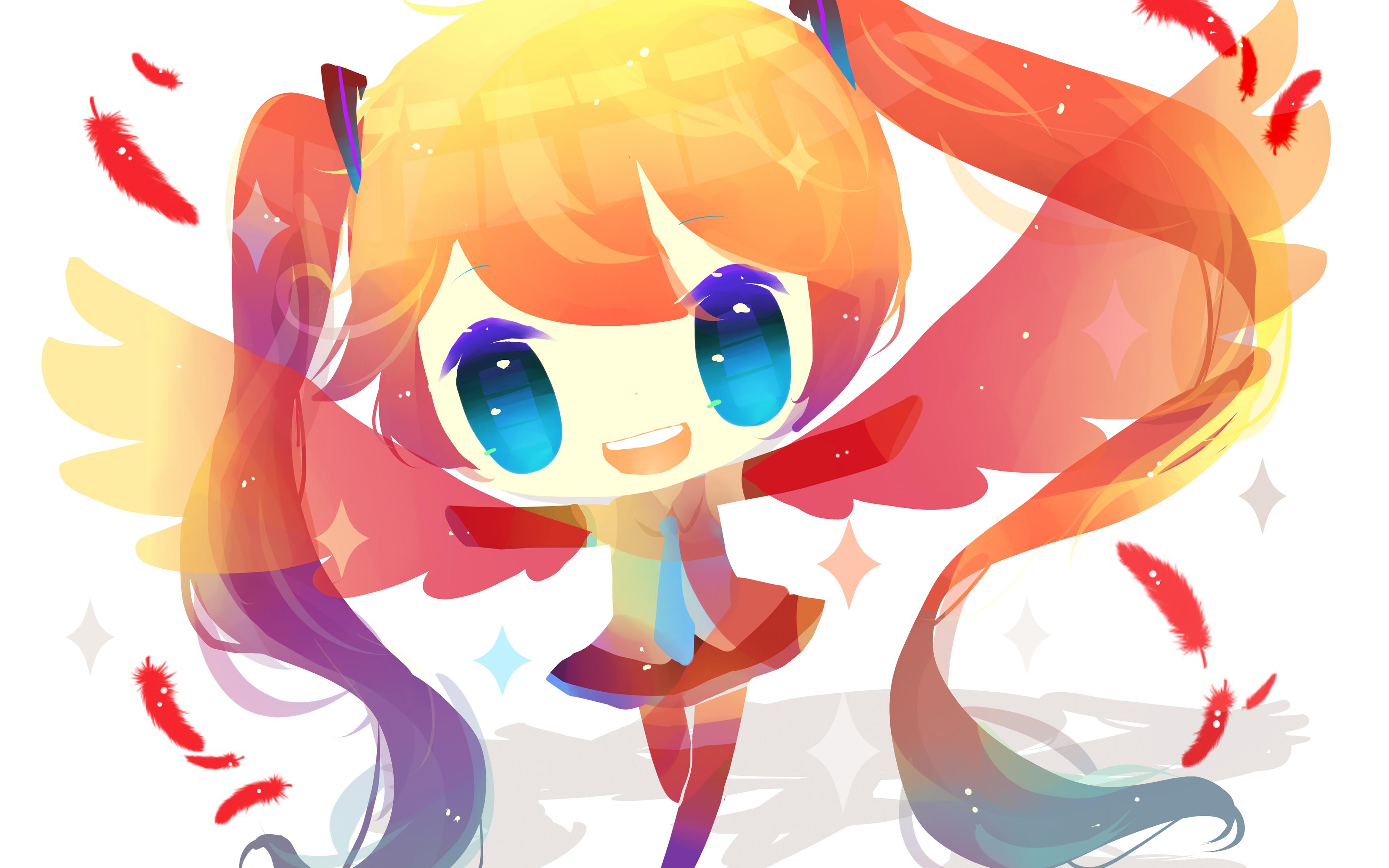 Девушка аниме vocaloid. обои скачать