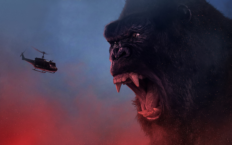 Kong skull island 4k. обои скачать