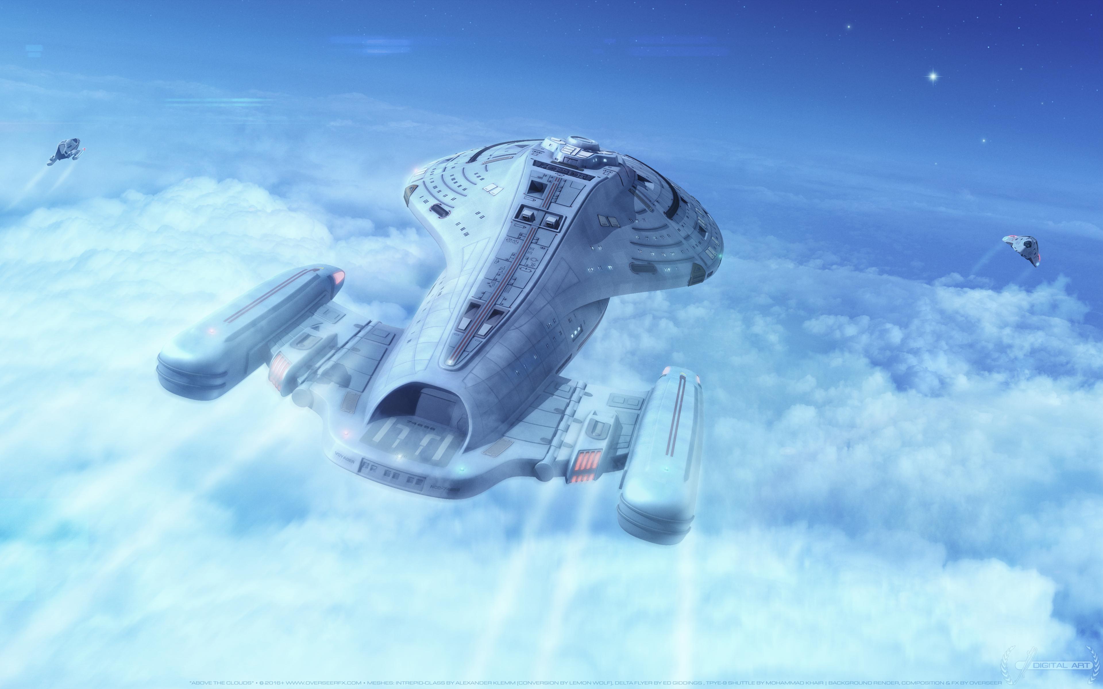 Корабль звезда Trek: Вояджер обои скачать