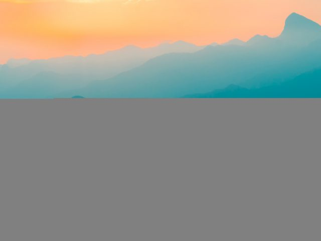 Горы в Бразилии восход солнца