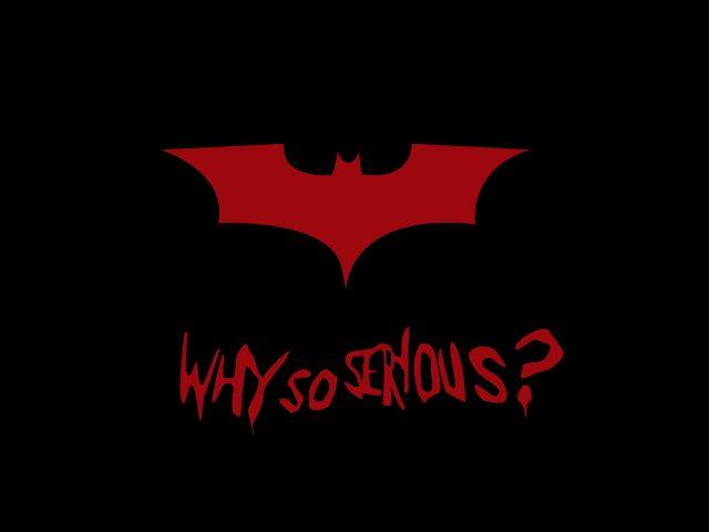 Бэтмен почему так серьезно