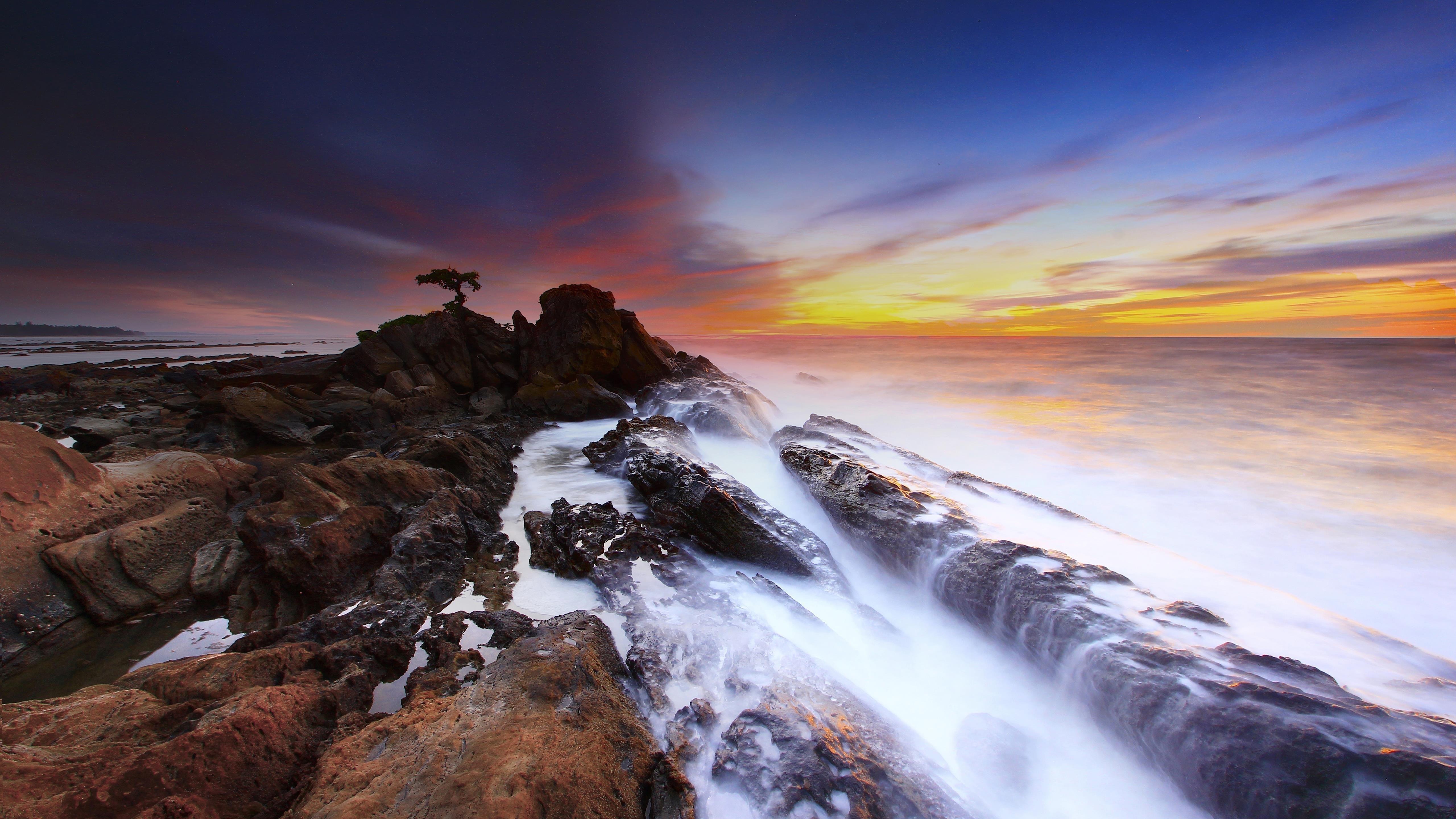 Морской пейзаж скалы обои скачать