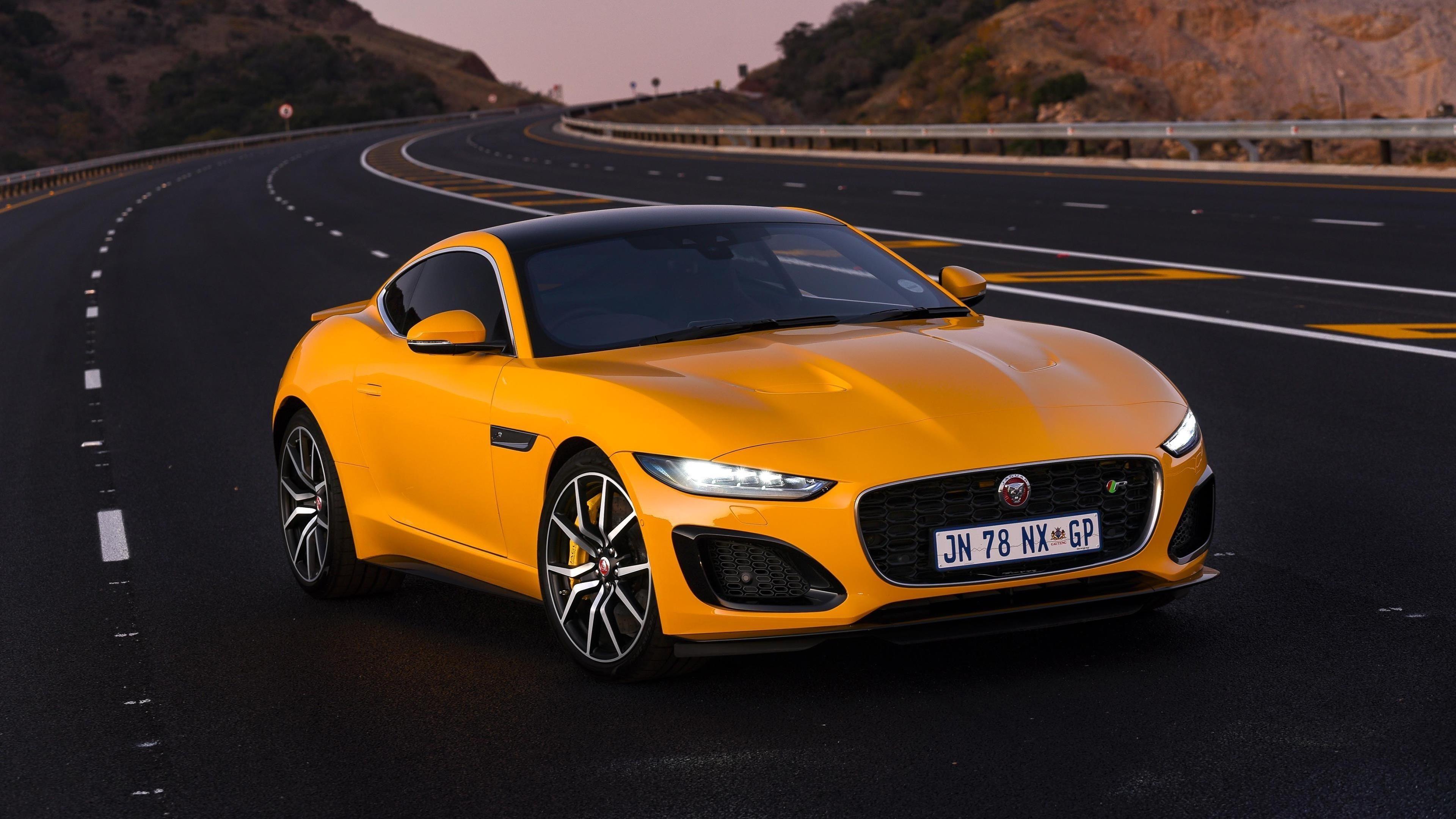 Автомобили jaguar f-type r coupé 2020 обои скачать