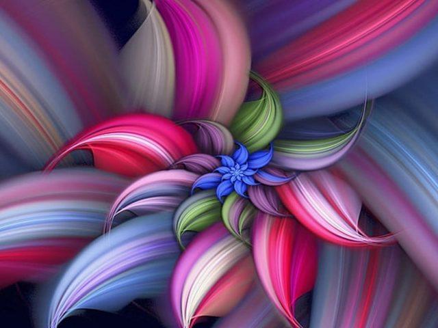 Красочные спиральные фрактальные линии цветов абстрактные