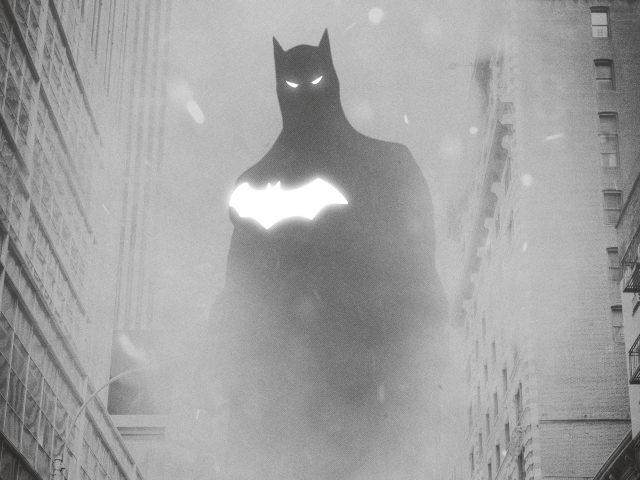 Монохромные работы batman