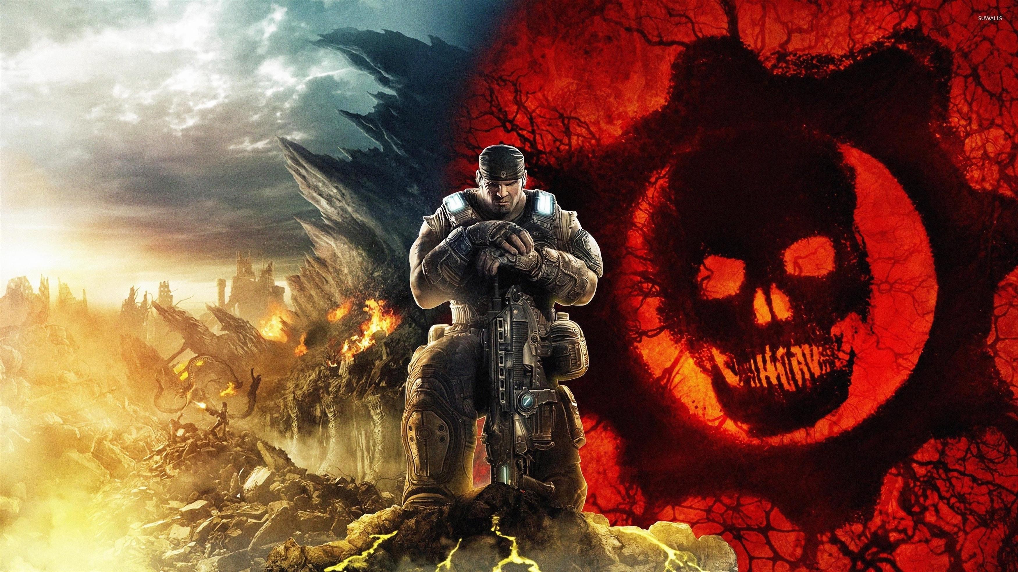 Маркус Феникс из Gears 5 обои скачать