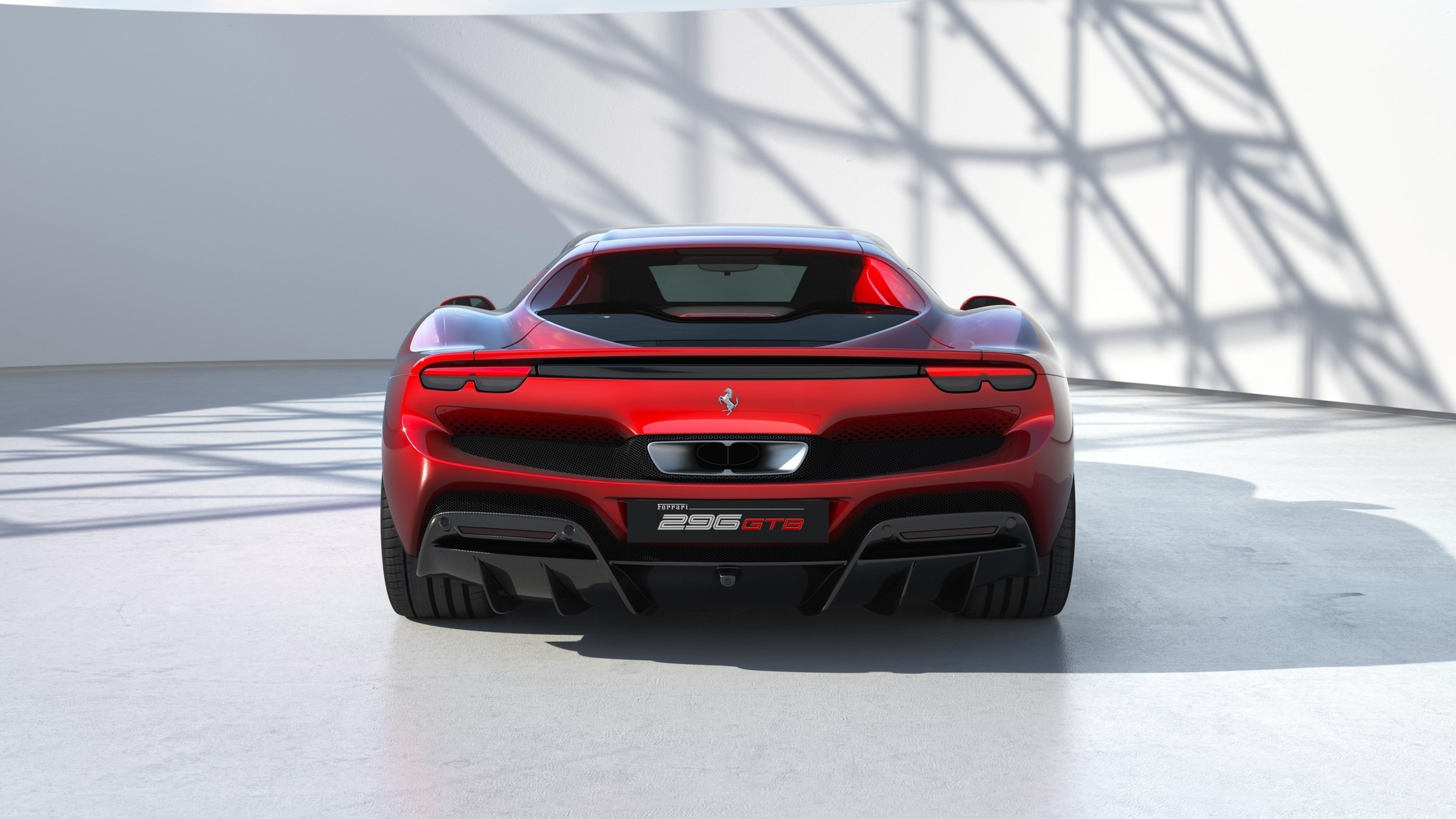 Ferrari 296 gtb 2022 4 автомобиля обои скачать