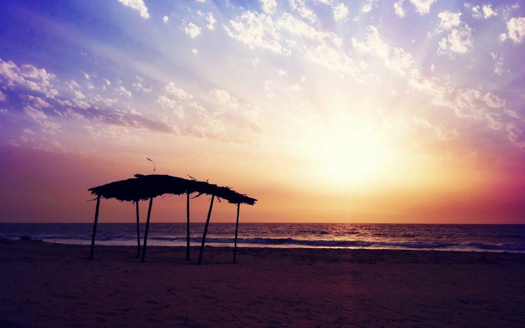 Закат пляж настроение. обои скачать