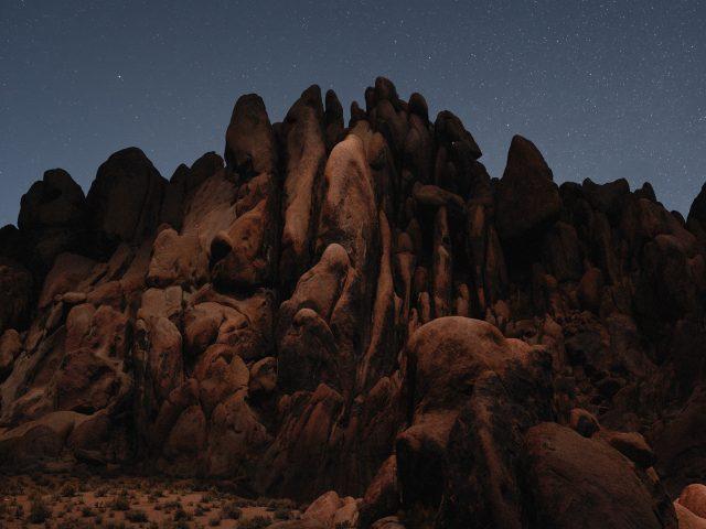 Пустынных скал и macOS Мохаве стоке