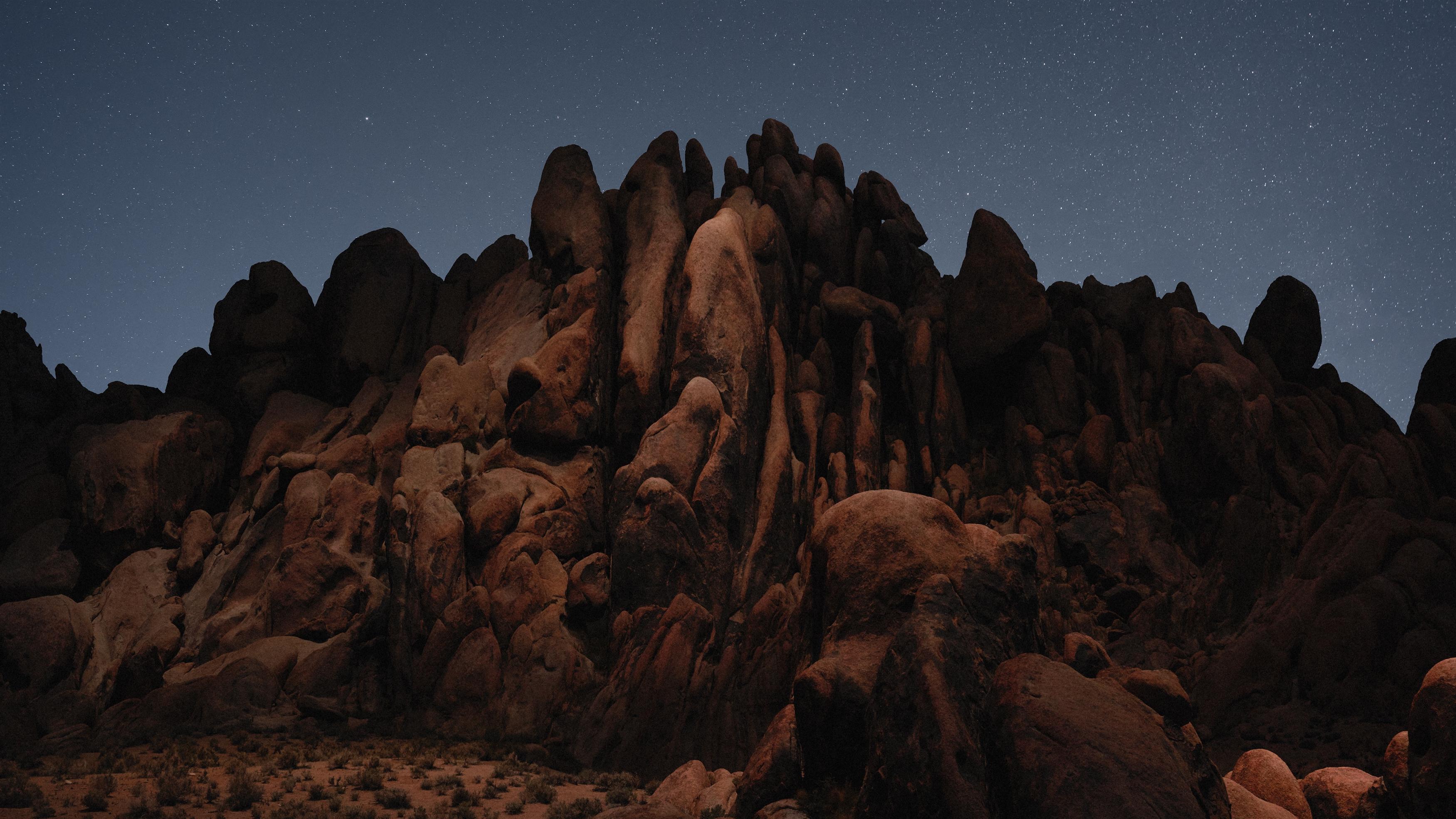 Пустынных скал и macOS Мохаве стоке обои скачать