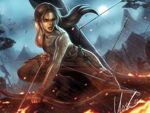 Lara croft tomb raider reborn.