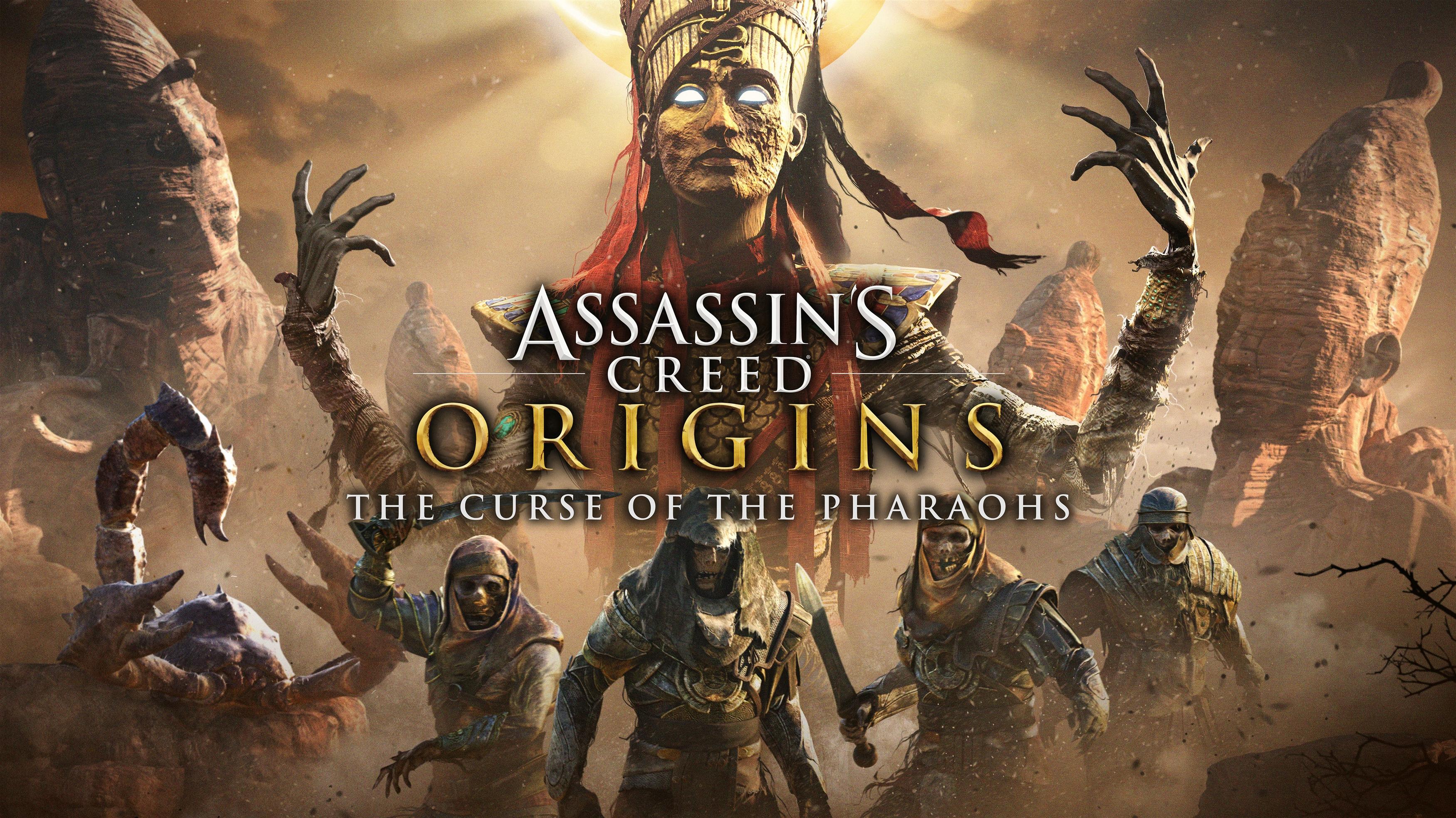 Ассассинс Крид происхождение проклятия фараонов обои скачать