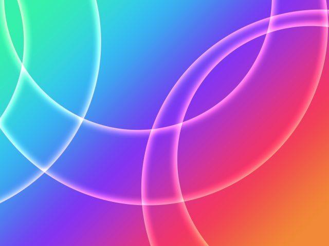Красочные несколько кругов абстракция абстракция