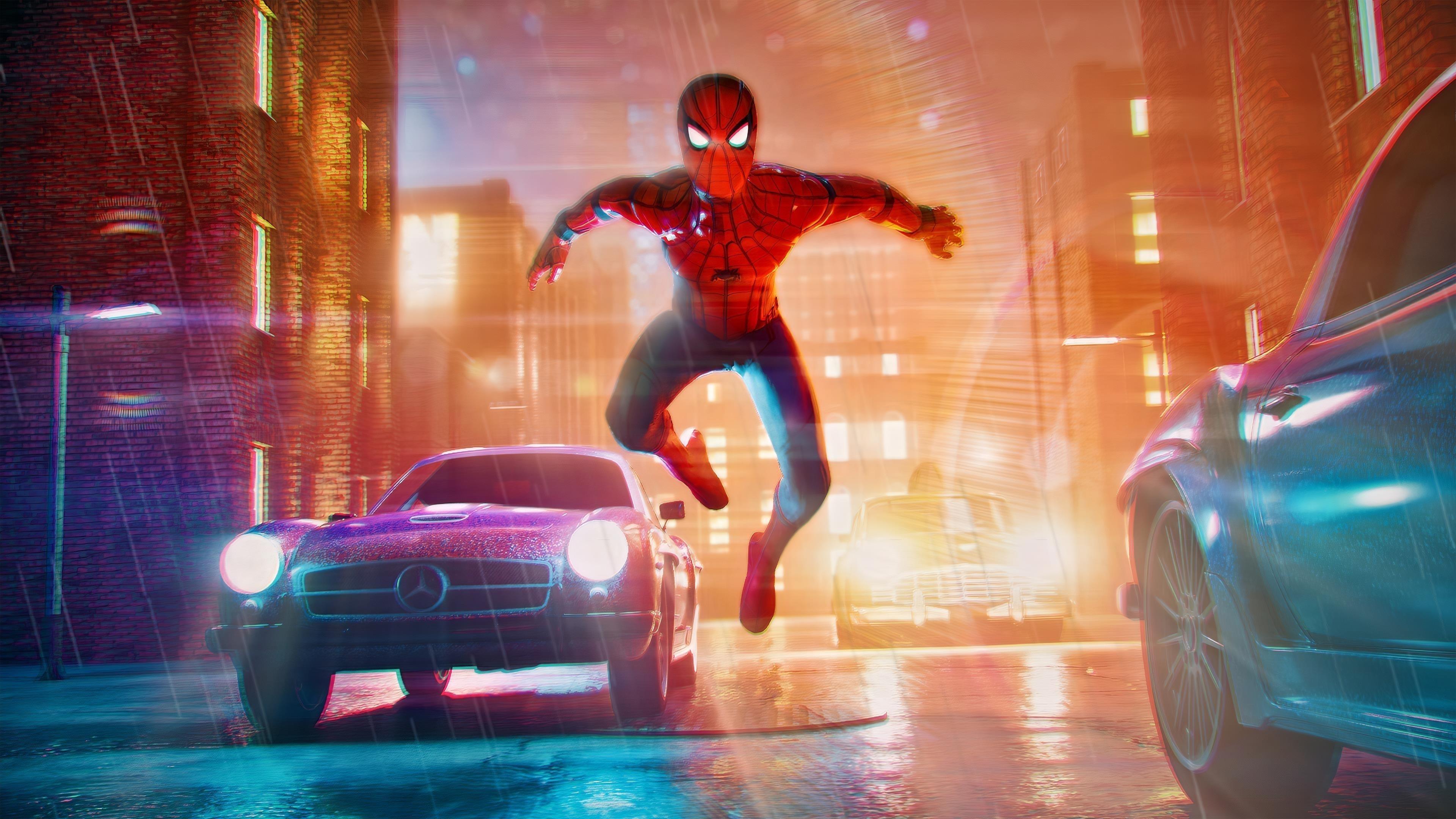Человек-паук произведения искусства обои скачать