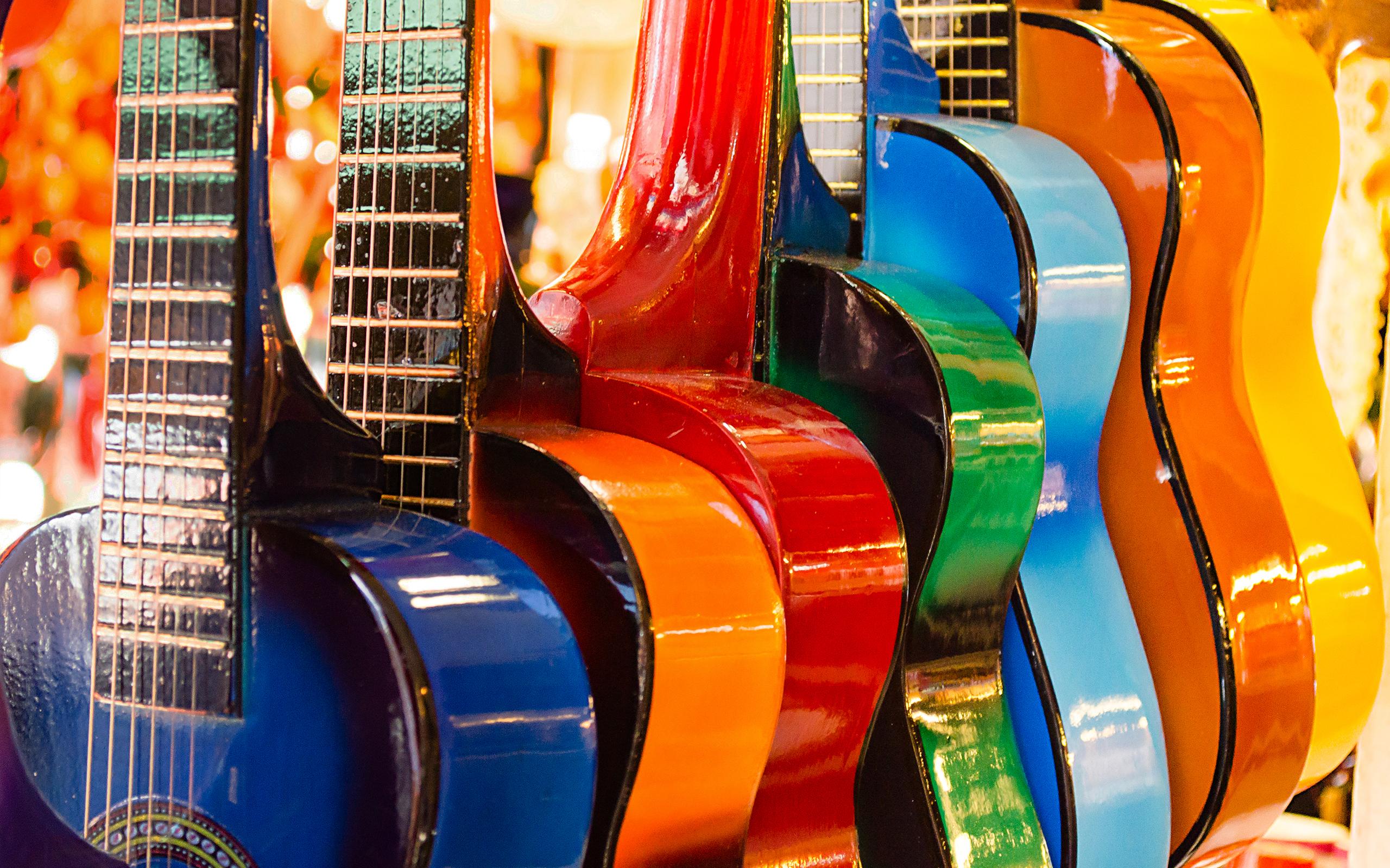 Красочные гитары обои скачать