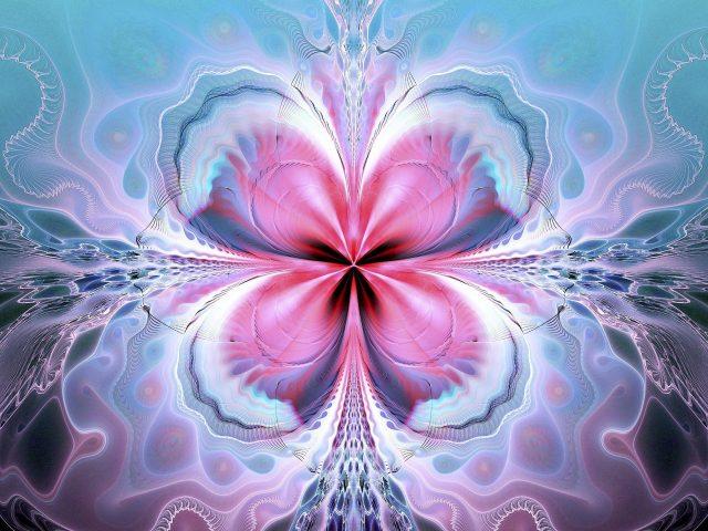 Цветочные линии фрактальные узоры абстрактные фигуры