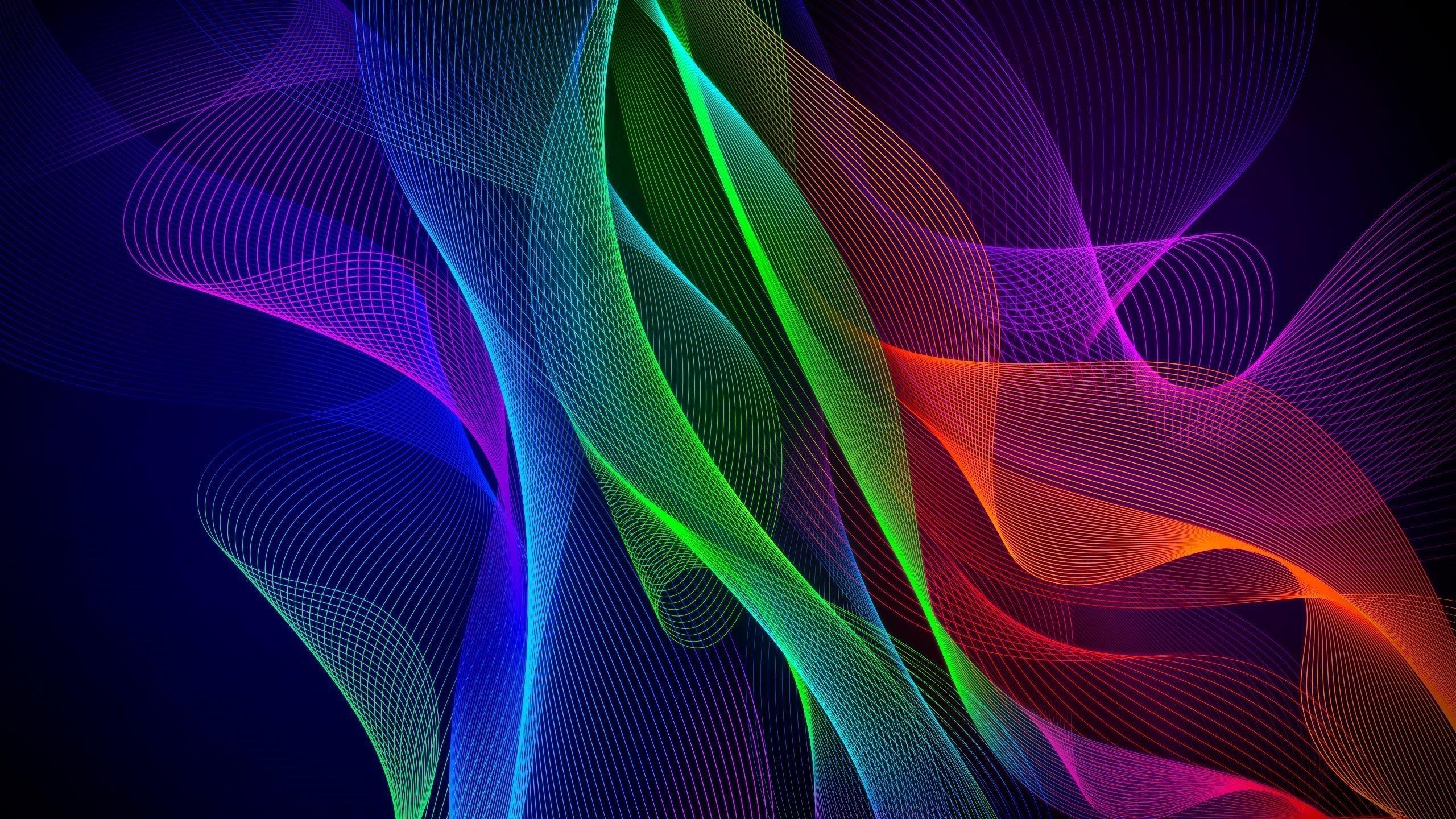 Красочный абстрактный телефон razer stock обои скачать