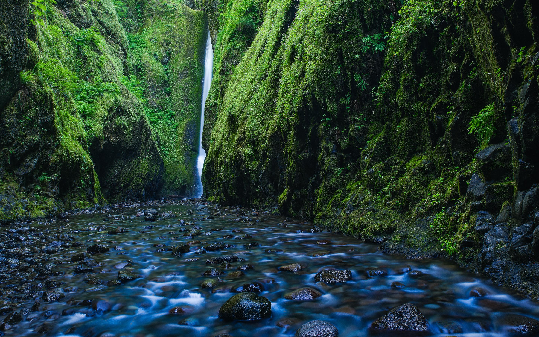 Ущелье онеонта водопад, Орегон обои скачать