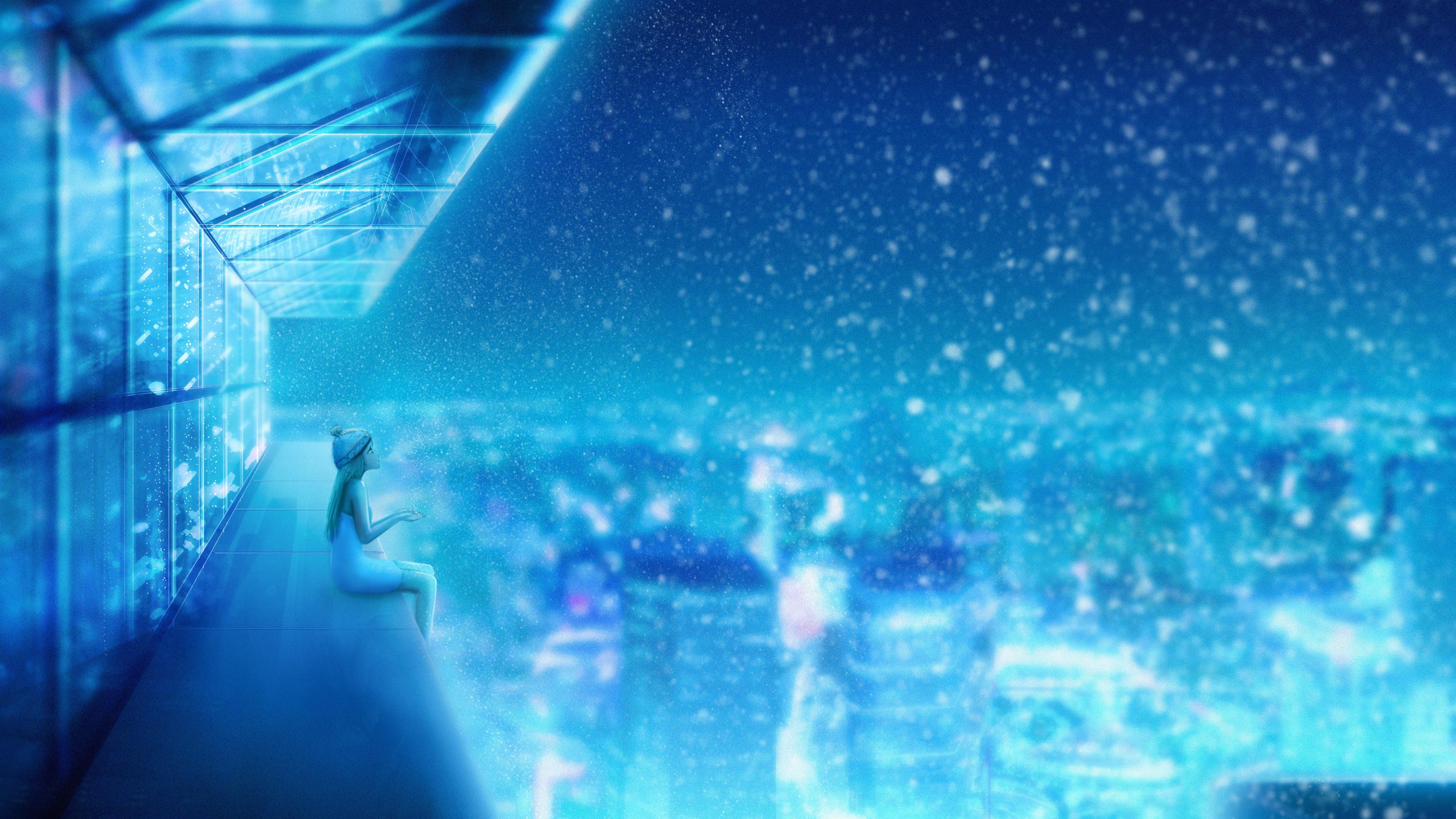 Снегопад мечта обои скачать