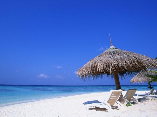 Лежак,  пляж,  рай,  океан