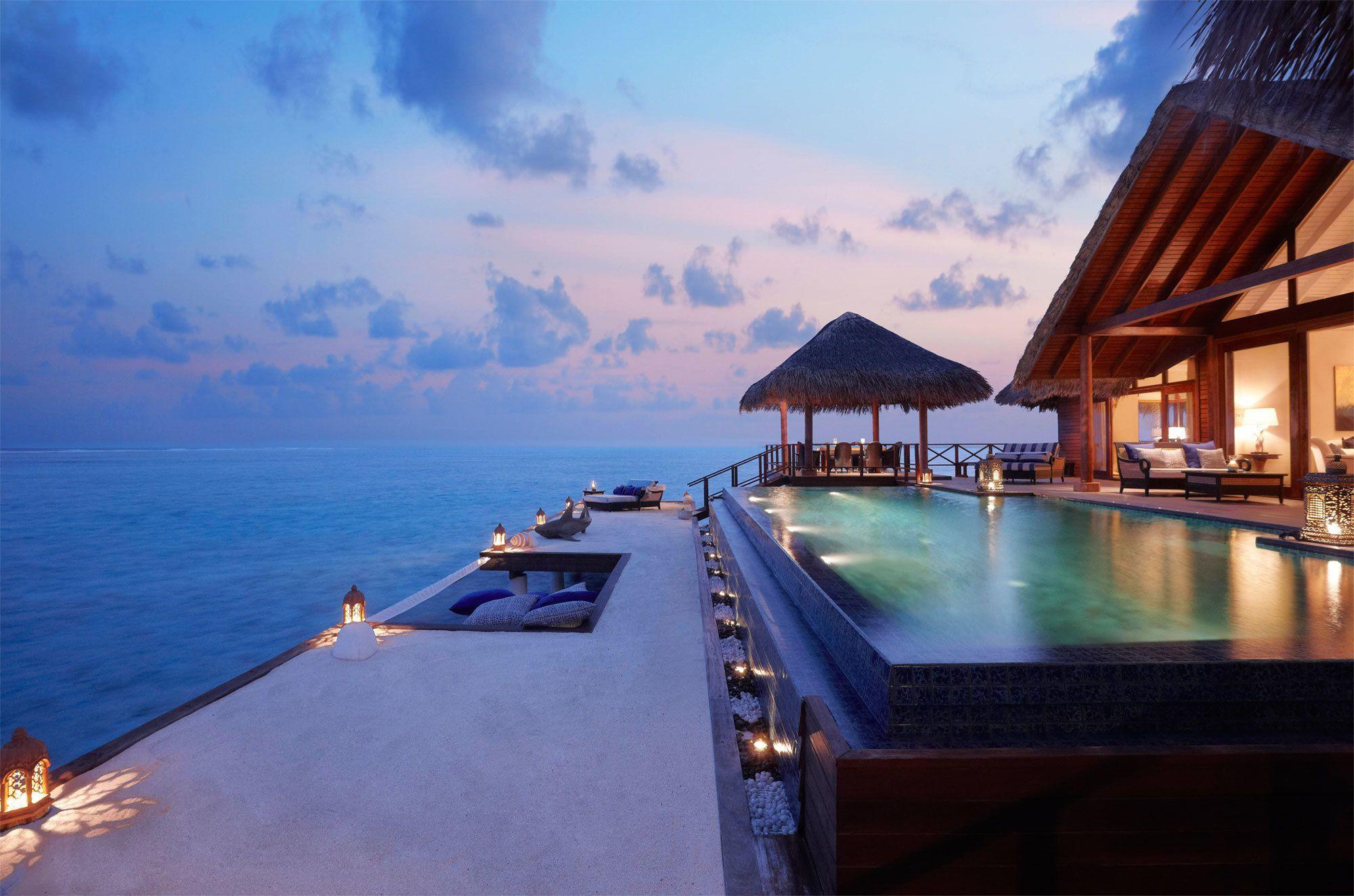Отель, Мальдивы обои скачать