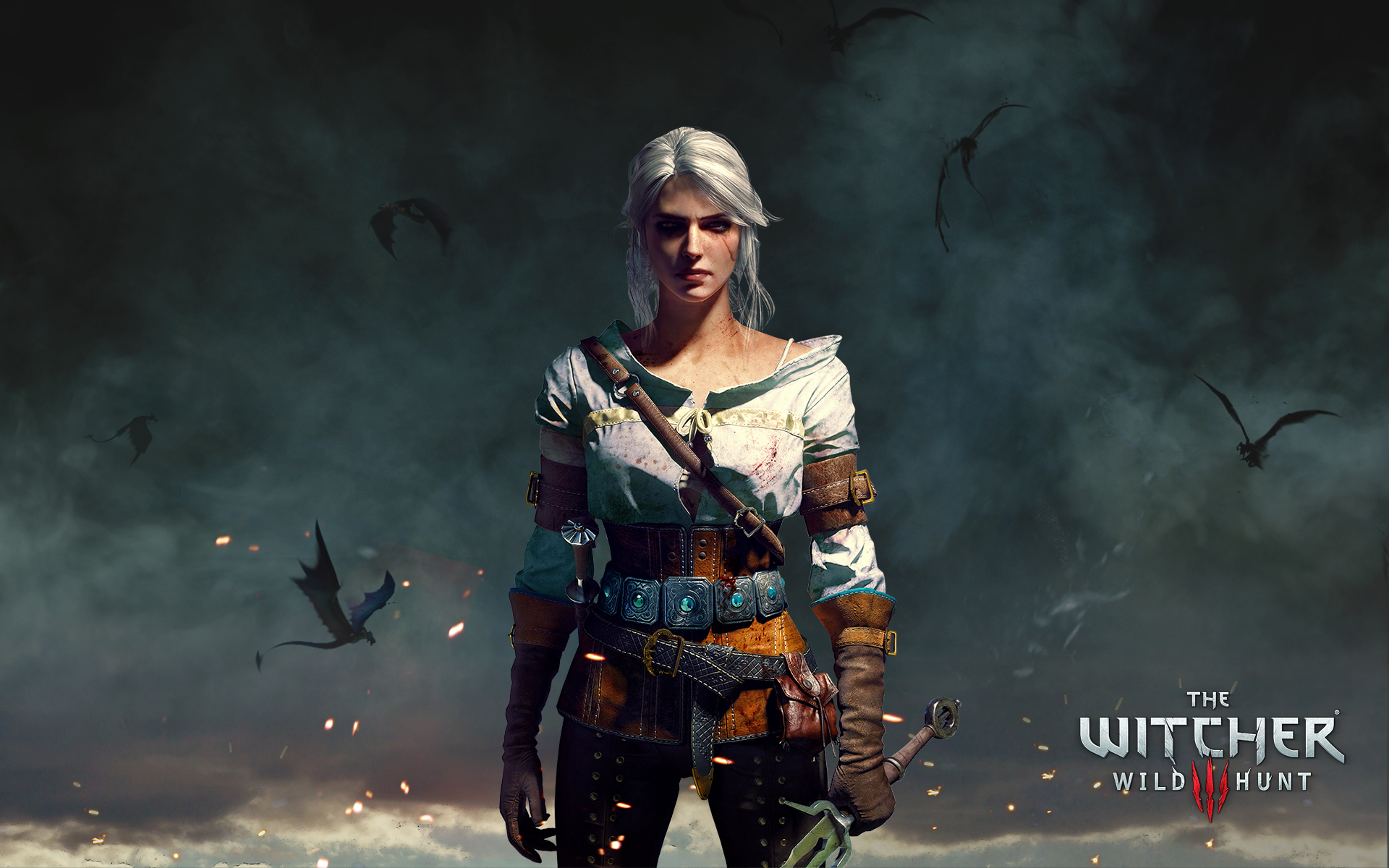 Ciri the witcher 3 wild hunt. обои скачать