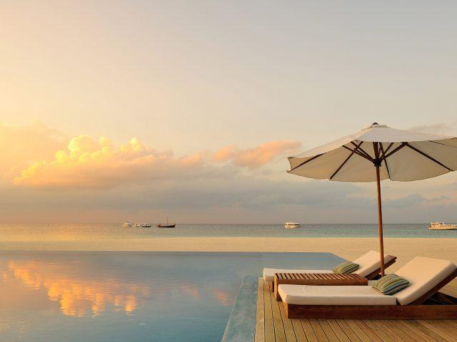 Мальдивы,  Рай,  Бассейн,  Шезлонг