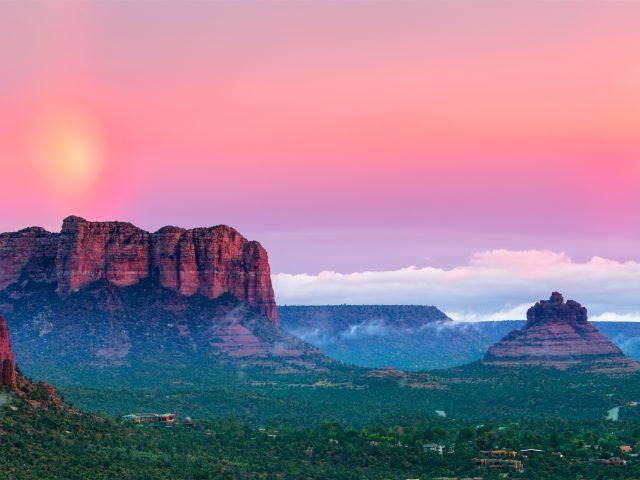 Закат горы пейзаж
