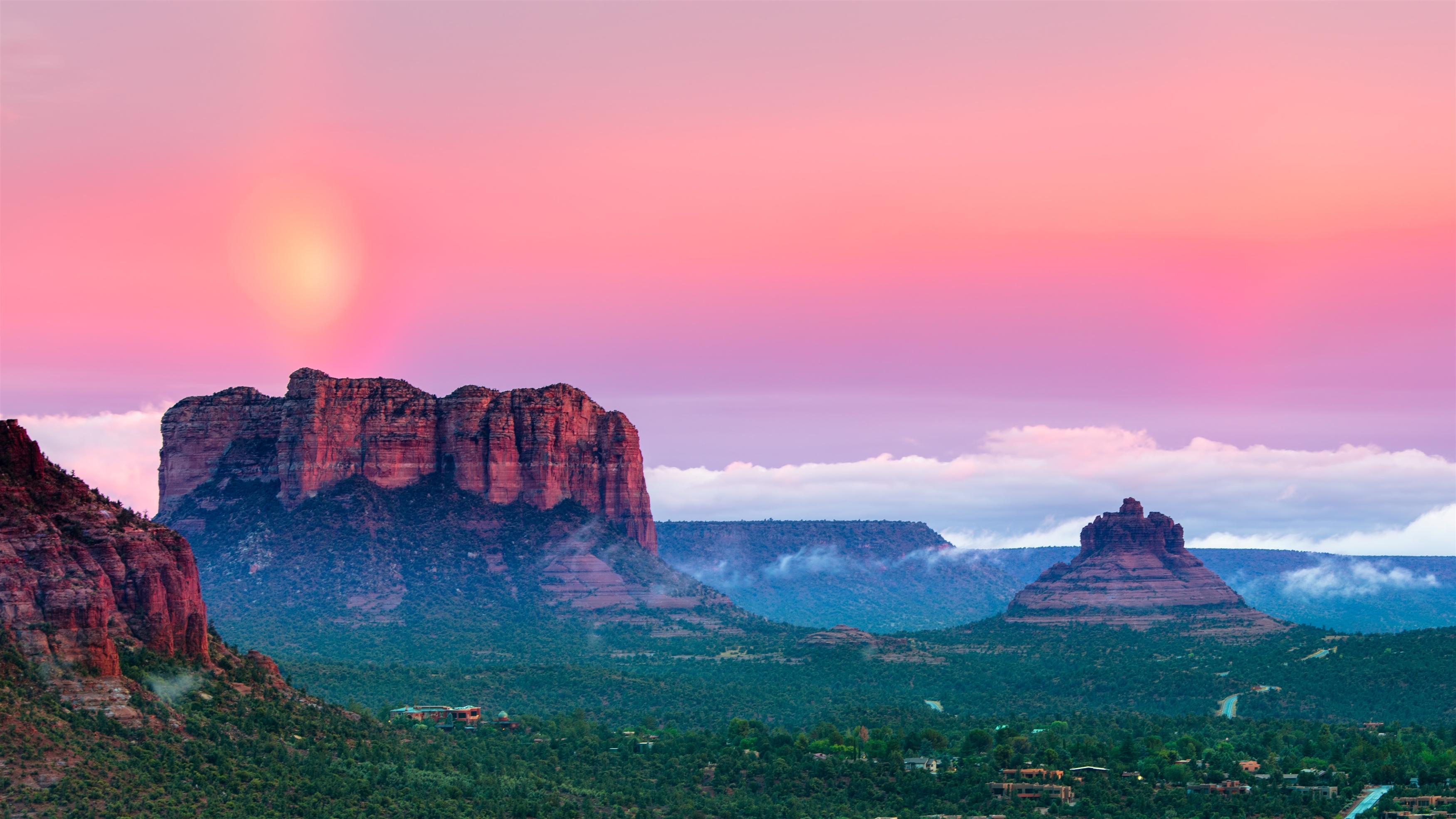 Закат горы пейзаж обои скачать