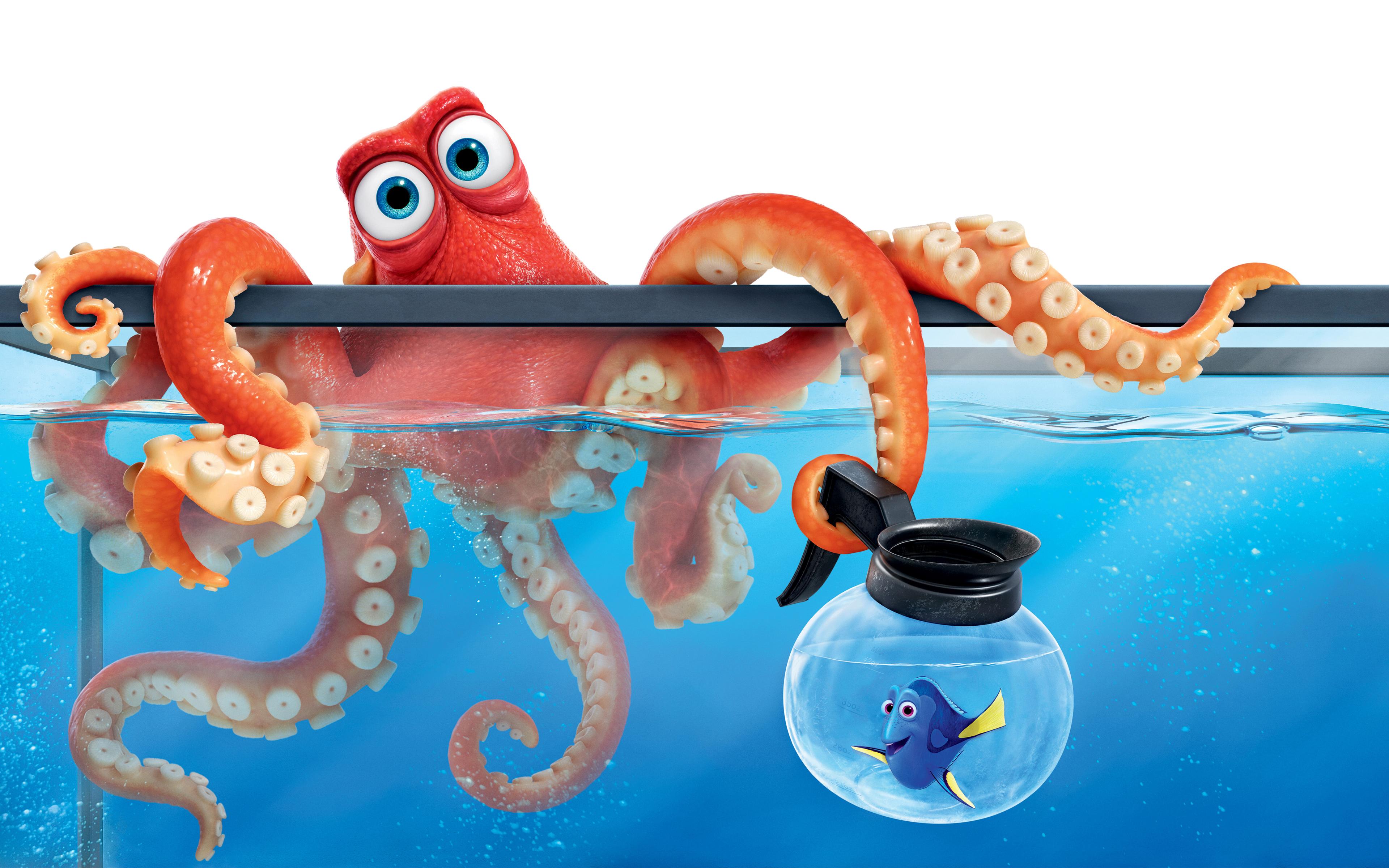 Поисках Дори Хэнк осьминог обои скачать