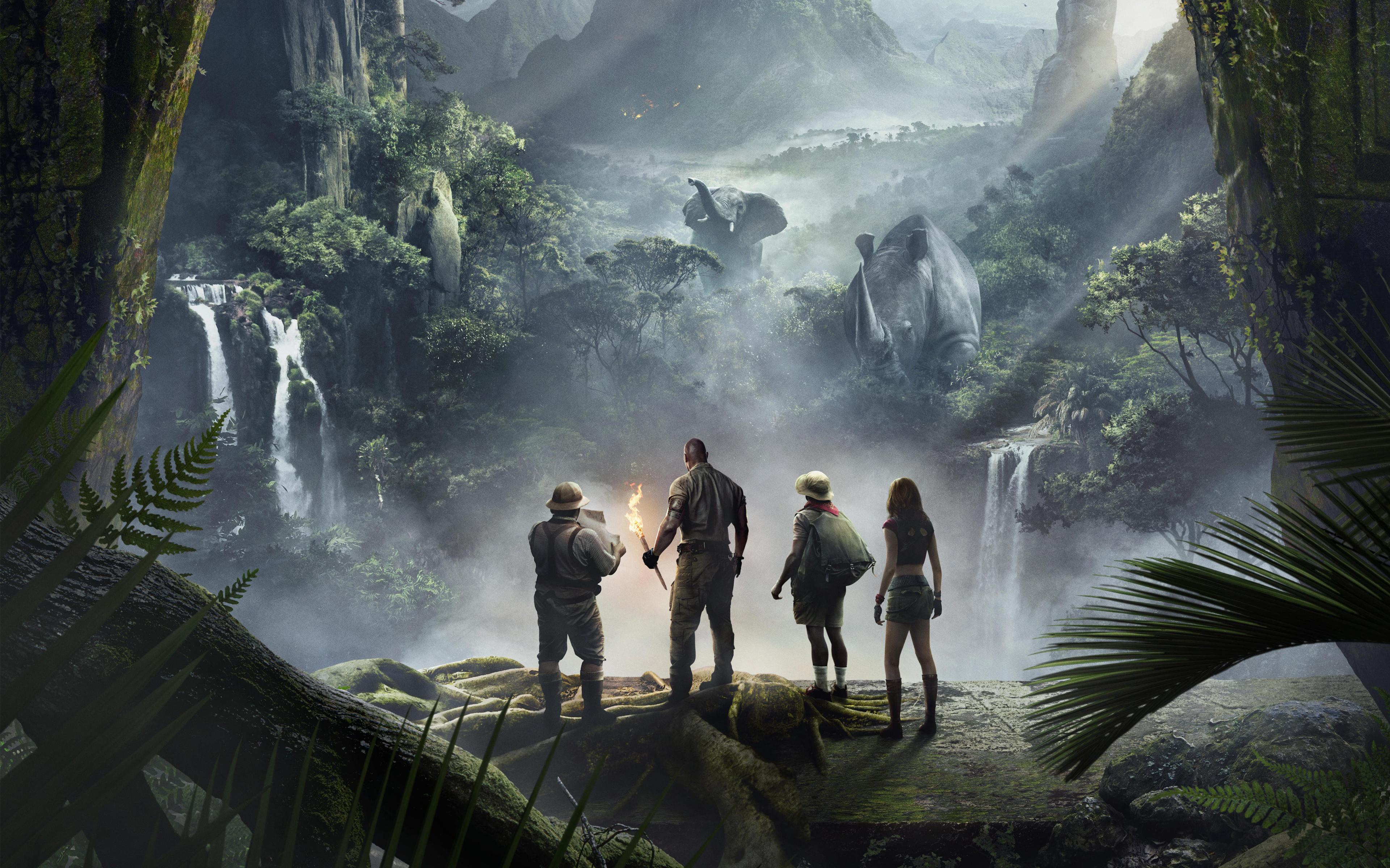 Джуманджи Добро пожаловать в джунгли обои скачать