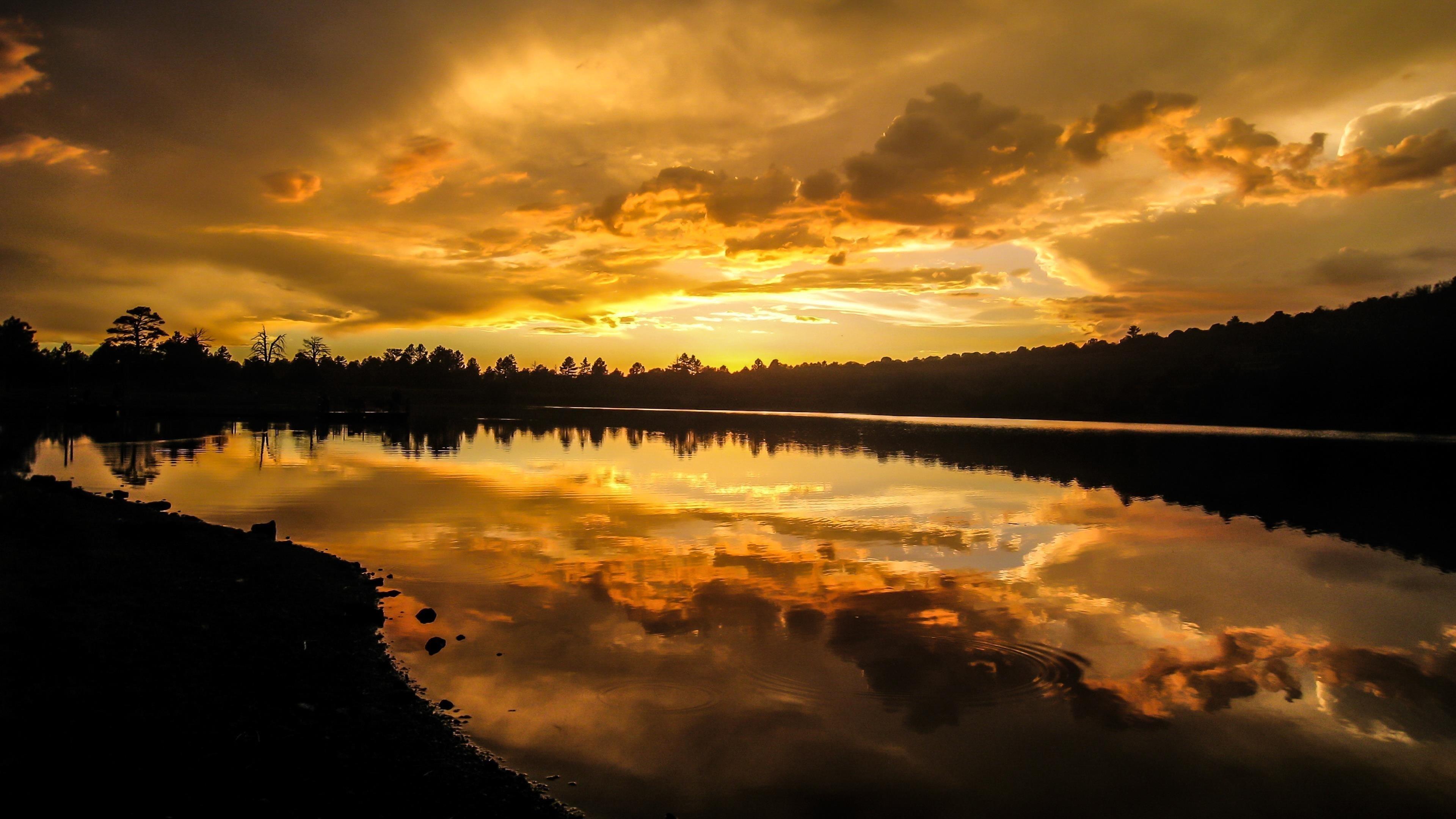 Озеро Сансет обои скачать