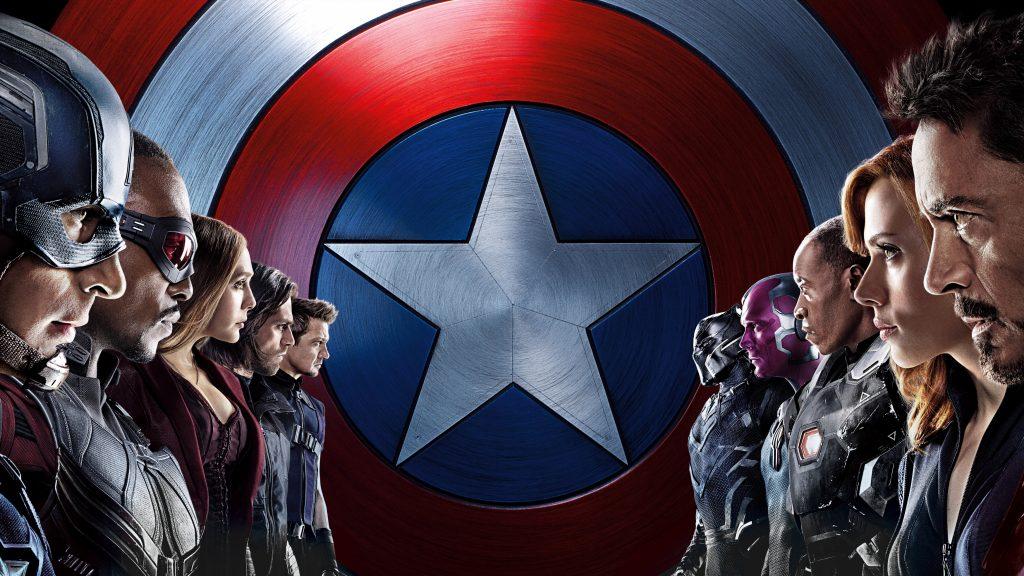 Капитан Америка гражданская война 8к. обои скачать