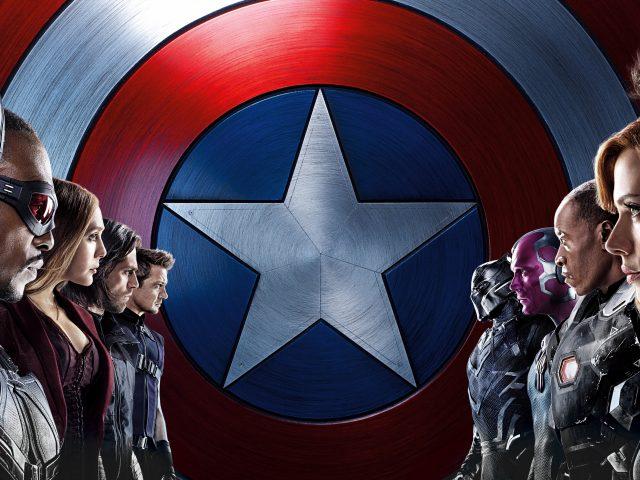 Капитан Америка гражданская война 8к.