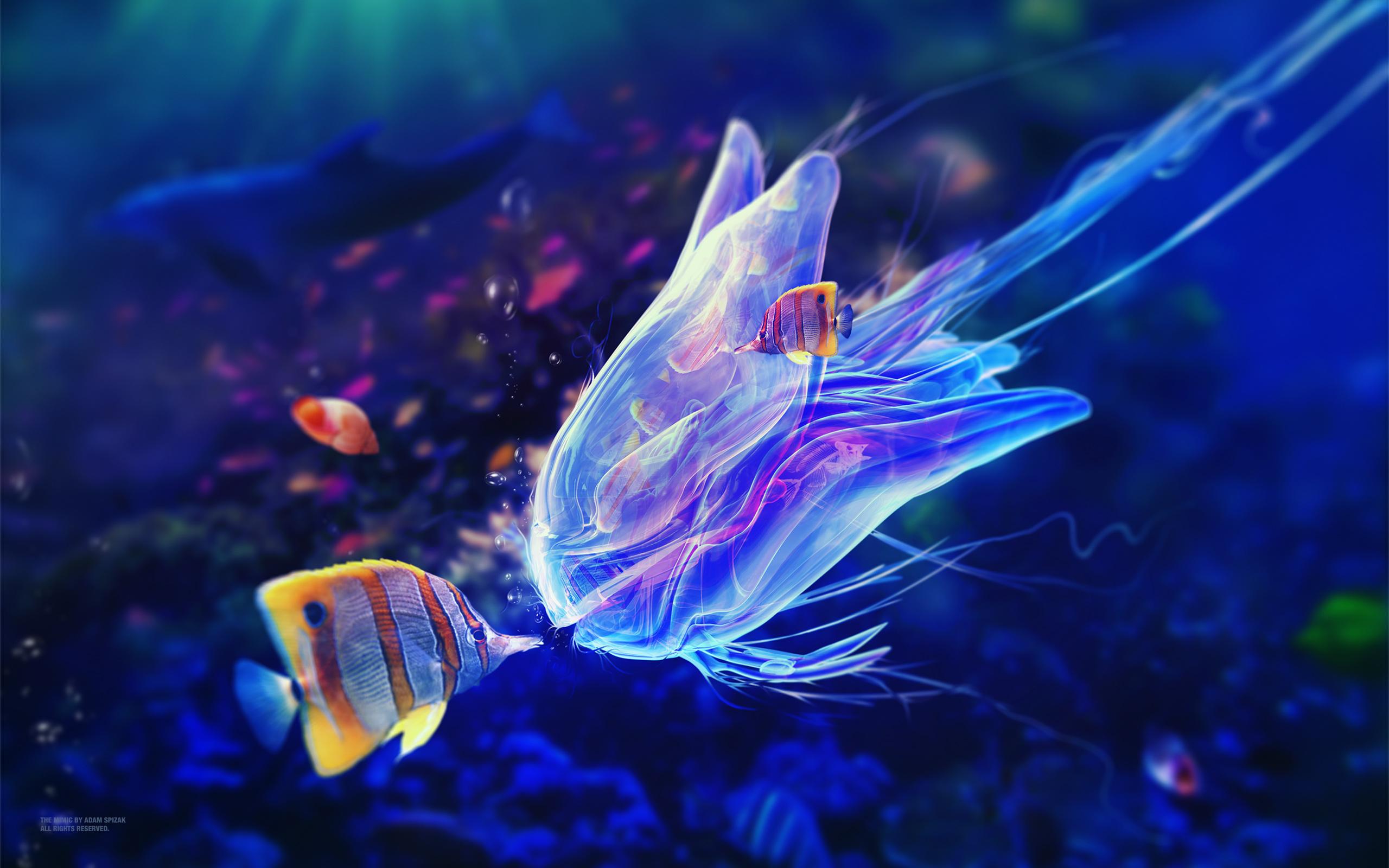 Подводный мимических обои скачать