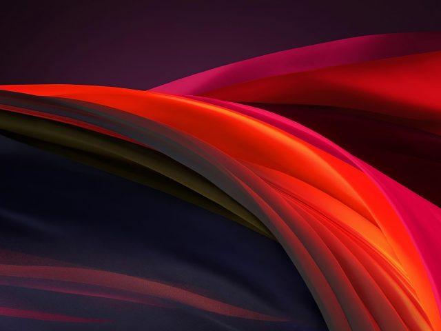 Темные красочные волнистые линии абстракция абстракция