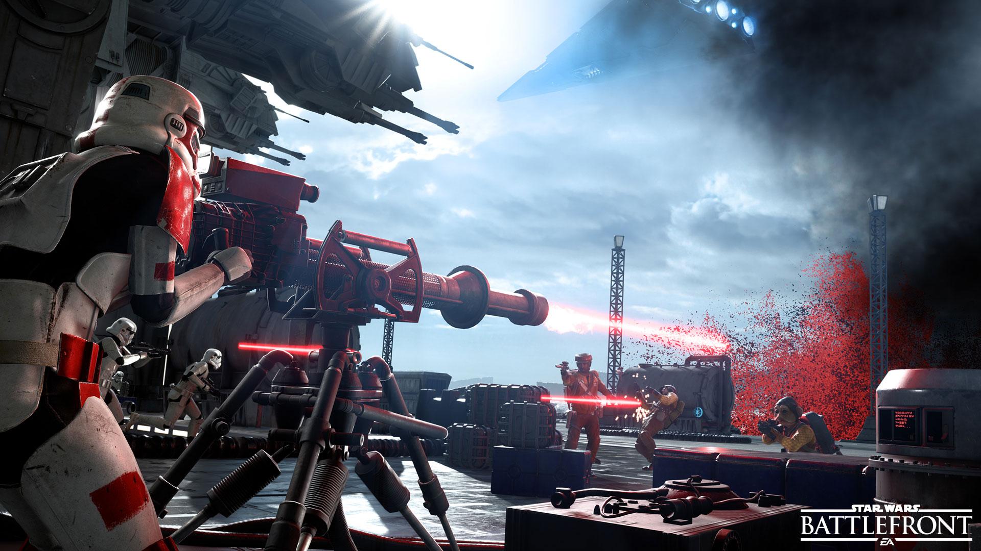 Звездные войны Battlefront импульсной пушки. обои скачать