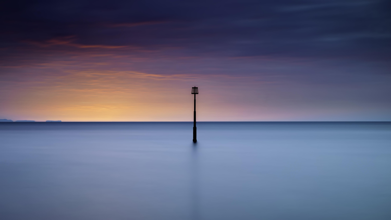 Прибрежный восход солнца обои скачать